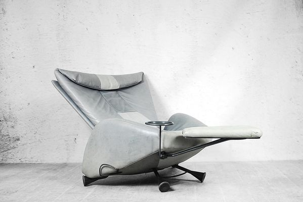 Perfect Space Age Adjustable Chair With Ottoman And Table By Kurt Ziehmer For Frank  Sitzmöbel, 1980s