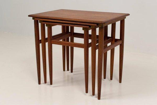 Great Danish Nesting Tables In Teak 8