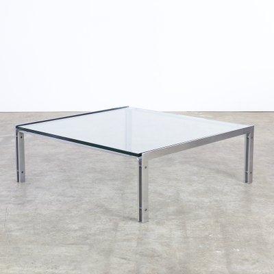 M1 Glass U0026 Chrome Coffee Table From Metaform, ...