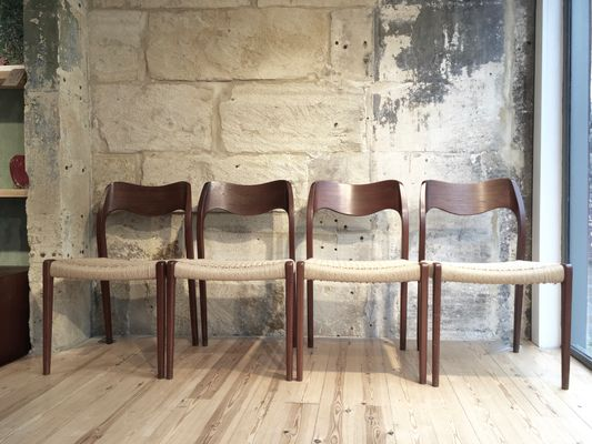 wooden dining chairs from neils mller set of 4 1