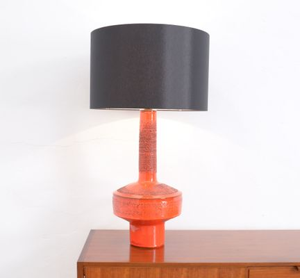 Vintage Red Ceramic Table Lamp By Rogier Vandeweghe For Amphora 1