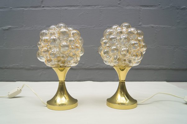 Captivating Vintage Bubble Glass Table Lamps By Helena Tynell For Limburg, Set Of 2 1