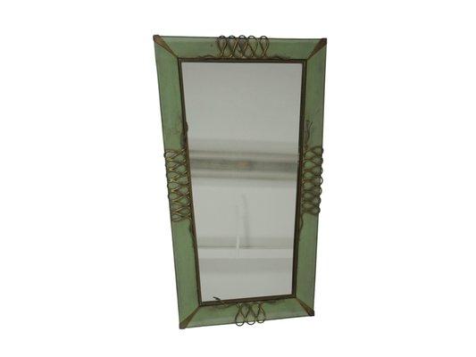 Specchio da parete vintage, Italia, anni \'40 in vendita su Pamono