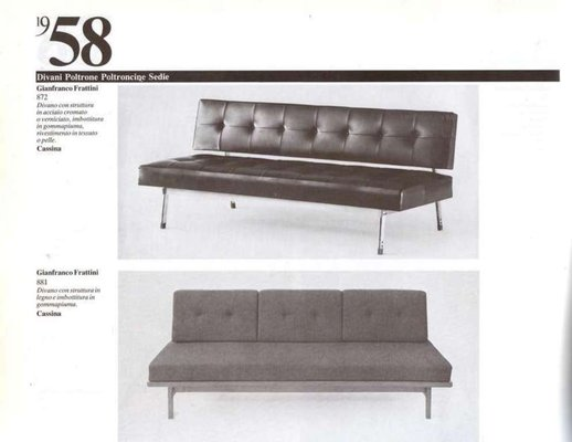 Italian 872 Leather Sofa by Gianfranco Frattini for Cassina, 1958 9