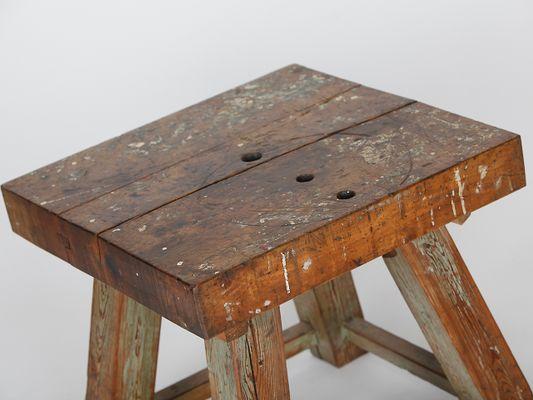 Tavolo in legno massiccio, anni \'40 in vendita su Pamono