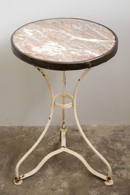 Antique Bistro Table With Marble Top, 1890s 3