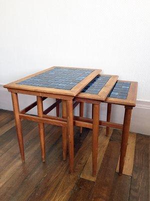 Superior Danish Teak U0026 Ceramic Nesting Tables, 1960s 1
