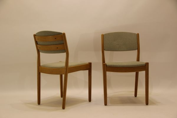 fabric dining chairs ikea covered mid century oak green set grey cheap