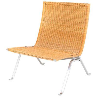PK22 Lounge Chair In Cane By Poul Kjaerholm For E. Kold Christensen 1