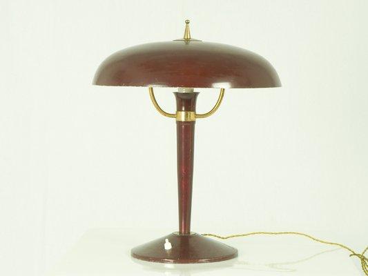 Superb Vintage Italian Cast Iron Table Lamp, 1950s 2