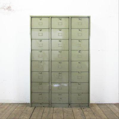 Vintage Schrank mit 24 Fächern von Strafor bei Pamono kaufen
