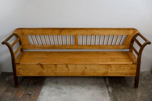 Panca da cucina grande Biedermeier in legno di conifera, inizio ...