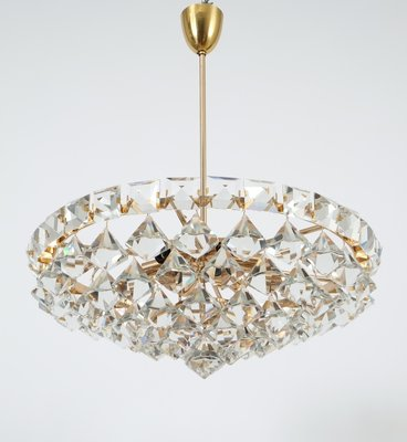 Vintage Chandelier with PearShaped Crystals from Bakalowits