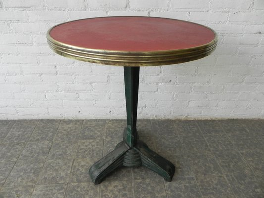 Art Deco Bistro Table With Cast Iron Base 3