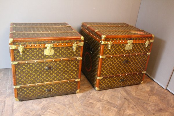 vintage monogram cube steamer trunks from louis vuitton set of 2 1