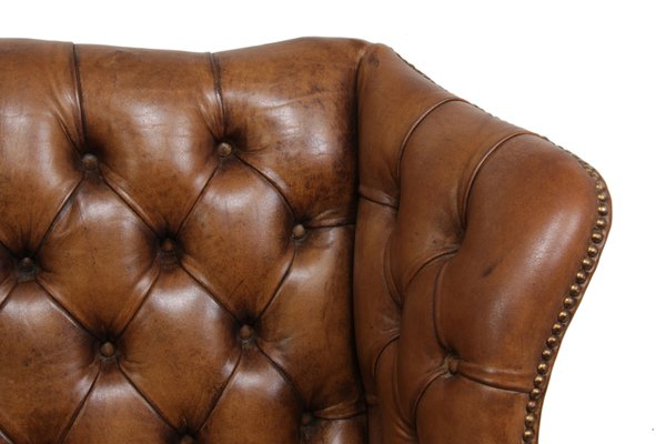 red leather wingback chair for sale antique wing chairs mid century uk