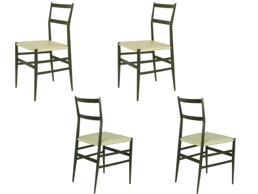 Superleggera Chairs By Gio Ponti For Cassina, 1957, Set Of 4 1