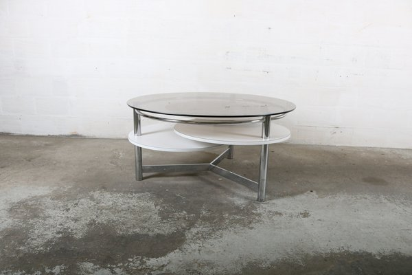 Vintage Coffee Table With Rotatable Tops 10