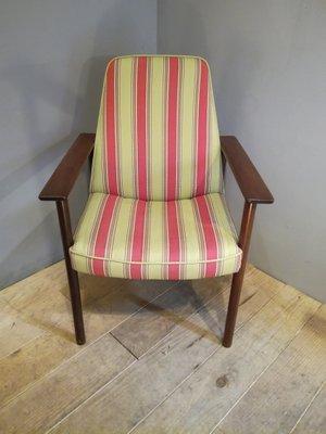 Vintage Scandinavian Striped Armchair, 1960s 2