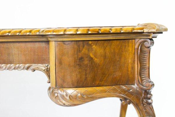 Vintage Two Sided Wooden Desk 20