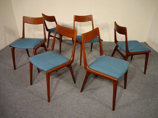 Superb Vintage Boomerang Dining Chairs By Erik Christensen For Slagelse Møbelværk,  Set Of 6 2
