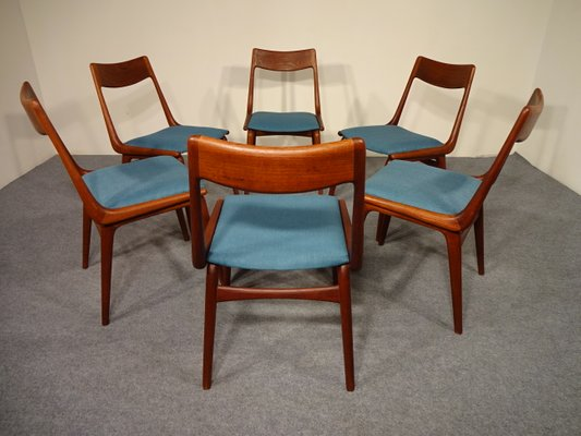 Vintage Boomerang Dining Chairs By Erik Christensen For Slagelse Møbelværk,  Set Of 6 1