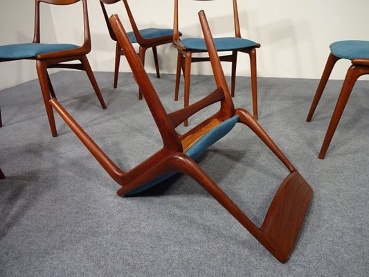 Vintage Boomerang Dining Chairs By Erik Christensen For Slagelse Møbelværk,  Set Of 6 22