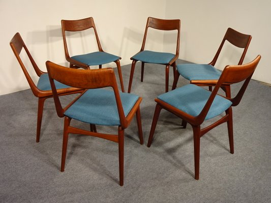 Vintage Boomerang Dining Chairs By Erik Christensen For Slagelse Møbelværk,  Set Of 6 3