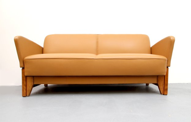 cognac leather daybed 1950s 2 - Leather Daybed