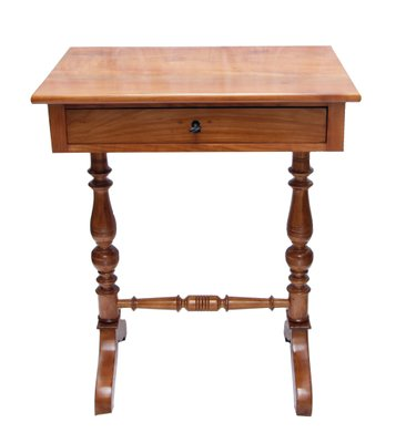 antique sewing table in cherry 1