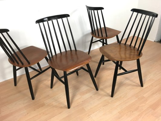 Attractive Mid Century Danish Teak Chairs, Set Of 4 5
