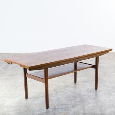 Teak Extendable Coffee Table 1960s for sale at Pamono