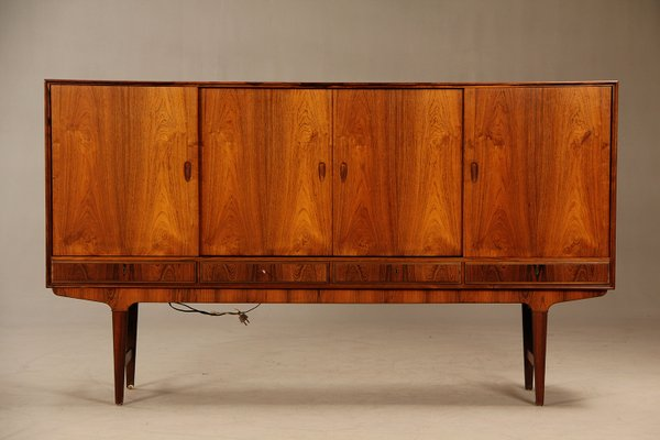 Mid Century Danish Rosewood Credenza With Bar Cabinet, 1960s 1