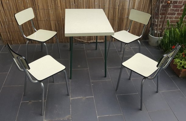 french cream formica bistro table u0026 four chairs