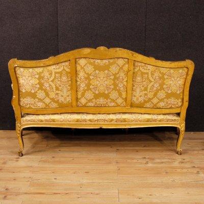 Marvelous Antique French Golden Sofa, 1880s 3