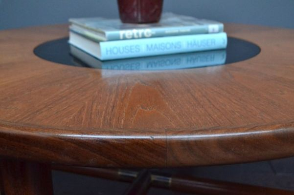 Vintage Teak And Glass Coffee Table 7