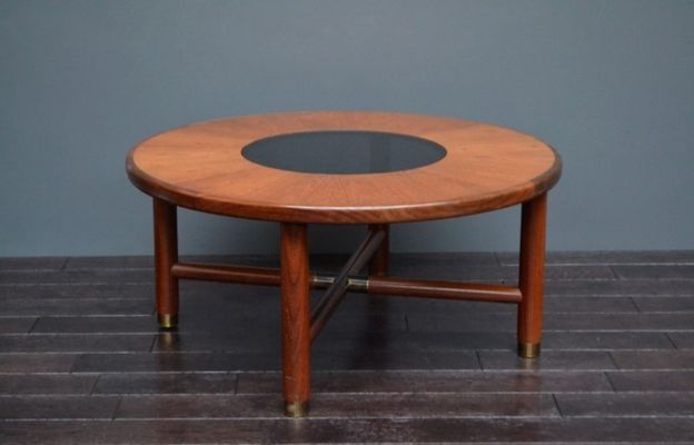 Vintage Teak And Glass Coffee Table 5