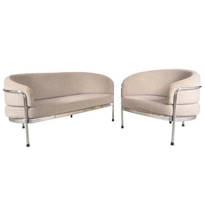 Vintage Two Seater Sofa and Lounge Chair Set by Hans Ell for  t Spectrum. Vintage Two Seater Sofa and Lounge Chair Set by Hans Ell for  t