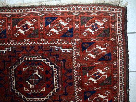 Antique Handmade Afghan Baluch Rug, 1900s 2