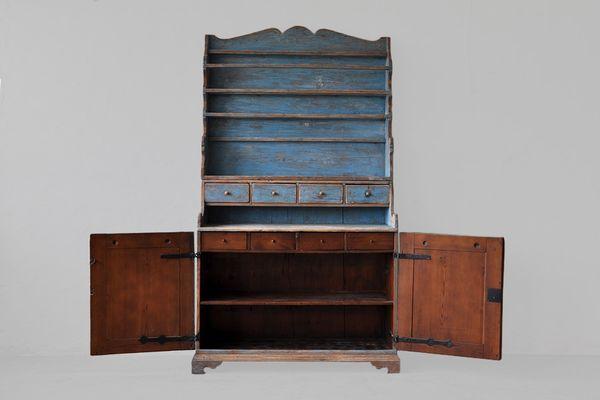 Vintage Swedish Blue Kitchen Cabinet 2