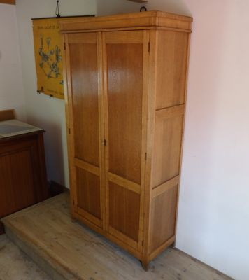 French Vintage Wooden School Cabinet for sale at Pamono