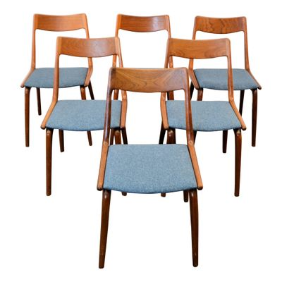 Nice Mid Century Boomerang Dining Chairs By Alfred Christensen For Slagelse  Møbelværk, Set Of 6