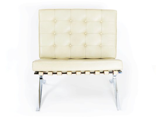 Vintage Barcelona Chair And Ottoman By Ludwig Mies Van Der Rohe For Knoll 4