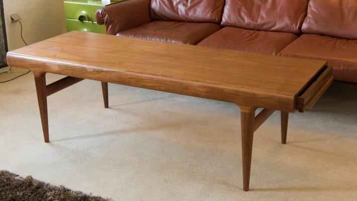 Mid Century Extendable Coffee Table By Johannes Andersen For Silkeborg Møbelfabrik 1