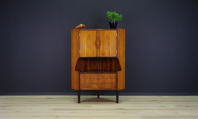 Mid Century Danish Rosewood Veneered Corner Cabinet From Omann Jun 1