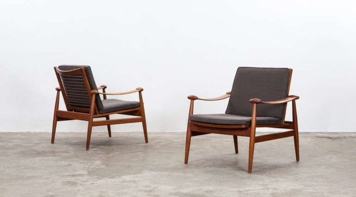 Vintage Lounge Chairs In Teak By Finn Juhl For France U0026 Søn, ...