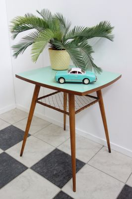 Lime Green Rotatable Table, 1960s 2