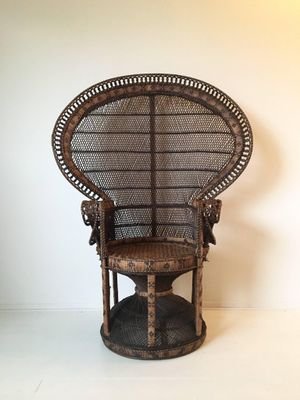 Brown Emmanuelle Or Peacock Chair, 1970s 3