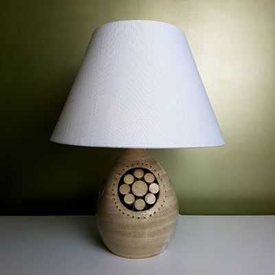 Vintage Ceramic Table Lamp By Georges Pelletier For La Roue Vallauris 2