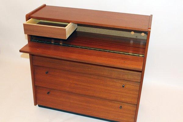 Kleiner Vintage Schrank mit Klapptüren und Schublade bei Pamono kaufen